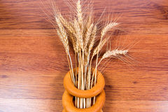 Spikelets of wheat bagels - a symbol of fertility and wealth. Royalty Free Stock Photography