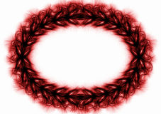 Spikes Oval Frame. Dark red or brown oval spikes border frame. Christ crown Stock Photos