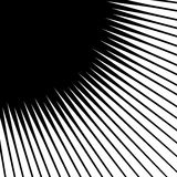 Spikes spreading from a central point. Geometric illustration. S Stock Images