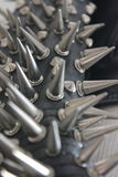 Spikes. And Studs Black Leather Jacket Stock Photo