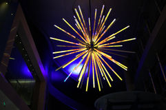Spikey lights. Clicked at a decorated mall in Vivid Sydney Stock Photo