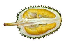 Spiky fruit. A spiky fruit from asia country, called durian, also claims is a king of fruits, very smelly fruit Royalty Free Stock Image
