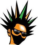 Spiky Hair eps Stock Photo