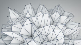 Spiky low poly shape. Futuristic 3D render Stock Photo