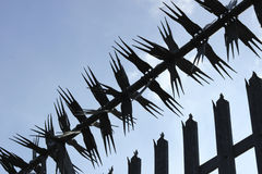 Spiky Metal Fence Royalty Free Stock Image