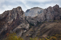 Spiky peaks of the mountain range Royalty Free Stock Photos