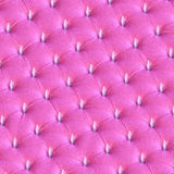 Spiky pink leather chesterfield upholstery Stock Photos