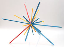 Spiky Plastic Toy. Unique toy connected to make star shape Royalty Free Stock Photography