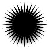 Spiky, pointed shape with blank space. Abstract minimal monochrome graphics - Royalty free vector illustration Stock Images
