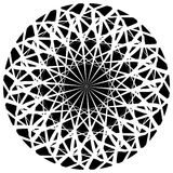 Spiky, pointed shape with blank space. Abstract minimal monochrome graphics - Royalty free vector illustration Royalty Free Stock Photos