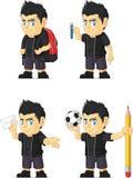 Spiky Rocker Boy Customizable Mascot 8 Royalty Free Stock Images