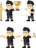 Spiky Rocker Boy Customizable Mascot 3 Stock Photos