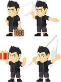Spiky Rocker Boy Customizable Mascot 5 Royalty Free Stock Photography