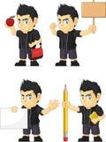 Spiky Rocker Boy Customizable Mascot 4 Stock Photo