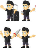 Spiky Rocker Boy Customizable Mascot 7 Stock Images