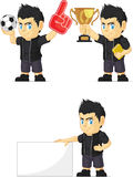 Spiky Rocker Boy Customizable Mascot 2 Royalty Free Stock Image