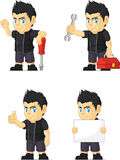 Spiky Rocker Boy Customizable Mascot 9 Stock Image