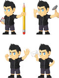 Spiky Rocker Boy Customizable Mascot 10 Stock Photography