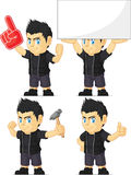 Spiky Rocker Boy Customizable Mascot 13 Stock Photo