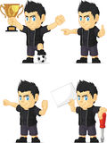 Spiky Rocker Boy Customizable Mascot 17 Royalty Free Stock Image