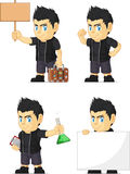 Spiky Rocker Boy Customizable Mascot 19 Stock Images