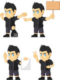 Spiky Rocker Boy Customizable Mascot 15 Royalty Free Stock Photo