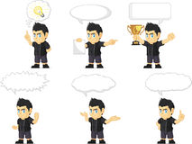 Spiky Rocker Boy Customizable Mascot 21 Royalty Free Stock Image