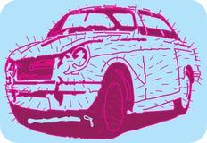 Spiky samochód Obraz Stock