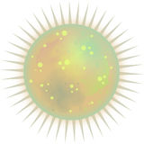 Spiky Sparkly Sun. A spiky and sparkly colorful design stock illustration