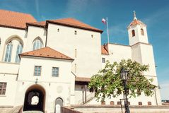 Spilberk城堡在布尔诺,南摩拉维亚,捷克语 免版税图库摄影