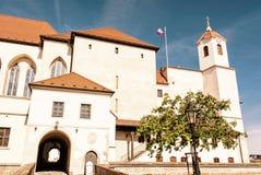 Spilberk城堡在布尔诺,南摩拉维亚,捷克,减速火箭的过滤器 库存图片