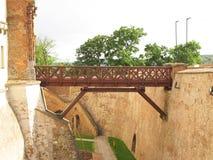 Spilberk城堡桥梁  库存照片