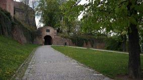 Spilberk城堡门 图库摄影
