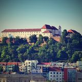 Spilberk castle, Brno - Central Europe, Czech Republic.Beautiful old castle in the city center. Stock Photography