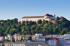 Spilberk castle, Brno - Central Europe, Czech Republic.Beautiful old castle in the city center. Royalty Free Stock Photography