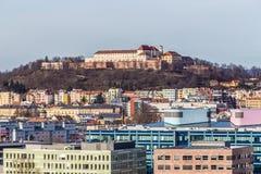 Spilberk Castle - Brno, Moravia, Czech Republic. Skyline Of Brno With Spilberk Castle On The Hilltop - Brno, Moravia, Czech Republic, Europe Royalty Free Stock Photo