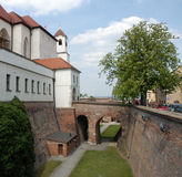 Spilberk Castle and moat Stock Photos
