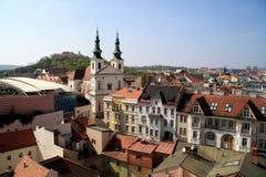 spilberk de château de Brno Images stock