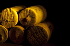 Spile wine yellow wood light Stock Images