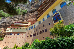 Spileo mega ou monastério da grande caverna Imagem de Stock