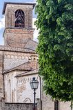 Spilinbergo cathedral in friuli. View of the cathedral in spilimbergo, medieval village in friiuli Royalty Free Stock Photo