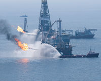 spill för olja för bp-deepwaterhorisont Royaltyfri Foto