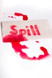 Spill messy juice Stock Photos