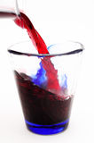 Spill red wine Royalty Free Stock Photos