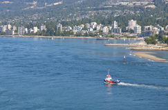 Spill Response Boat in North Vancouver Royalty Free Stock Image