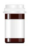 Spilla på preventivpillerar för att ytbehandla white för bana för medicin för lock för etikett för blank för flaska 100ml clippin Royaltyfria Bilder