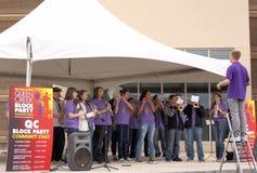 SPILLD musikband för drottningliten vik högstadium Royaltyfri Bild
