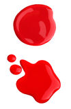spilld röd prövkopia för nailpolish Royaltyfri Bild