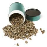 spilld tea för behållareelit oolong Arkivfoton