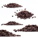 Spillda kaffebönor Royaltyfri Fotografi